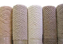 Bound carpet area rugs