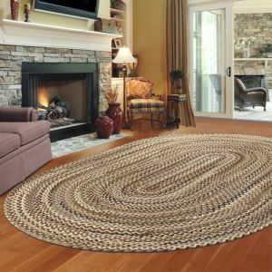 How to warm up a room?  With a braided rug!