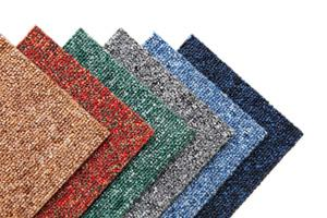 Commercial carpet in heathered colors.