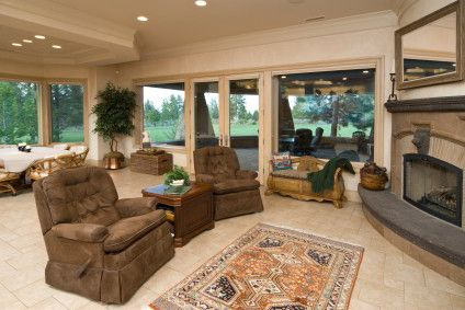 Oriental rug in a living room