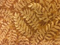 Soothing fern leaf carpet.
