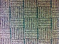 Patterned commercial carpet.