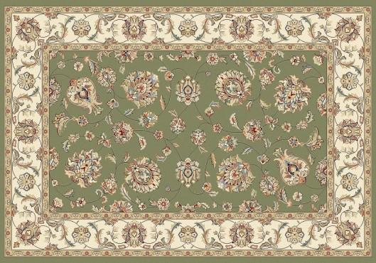 Elegance rug in color green.