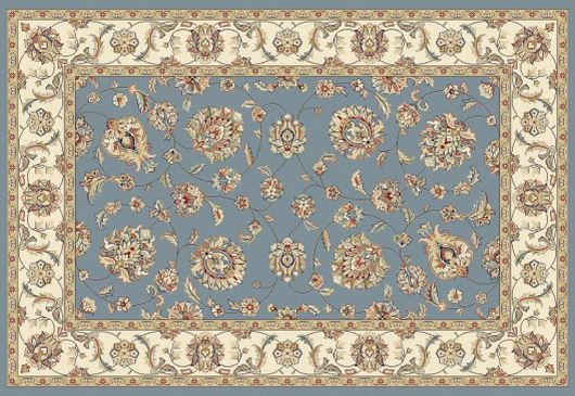 Elegance rug in color blue.