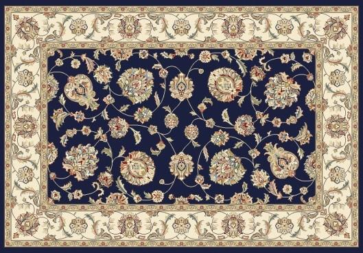 Elegance rug in color navy.