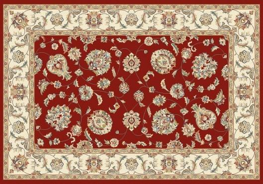 Elegance rug in color red.