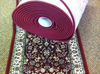 Oriental style roll runner sold by the foot.