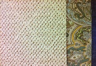 Sisal rug with fabric border.