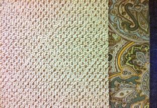 sisal rug with fabric border